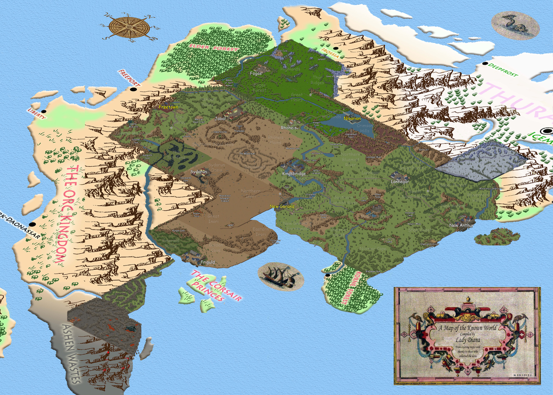 Filedetailed world mapg exiled kingdoms wiki filedetailed world mapg gumiabroncs Gallery